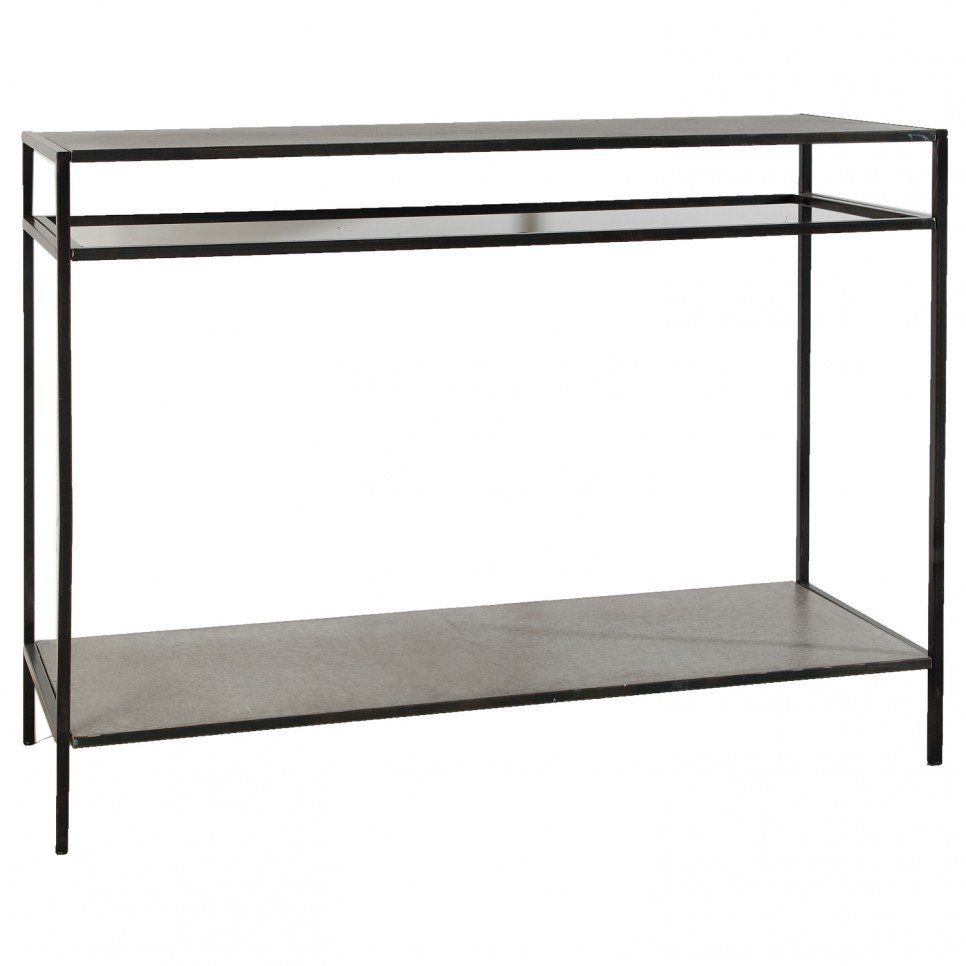 Furniture Outdoor Console Table With Black Metal Legs And Wooden Storage Ideas