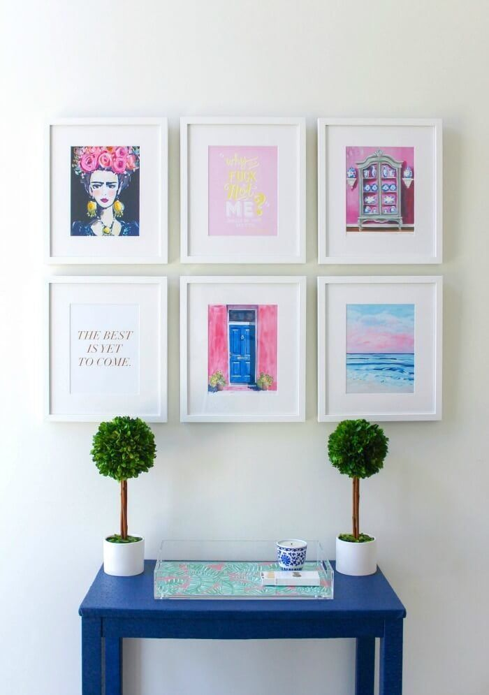 Symmetrical gallery wall ideas grid of art on the life creative also fresh you  ll flip out over decorator rh pinterest