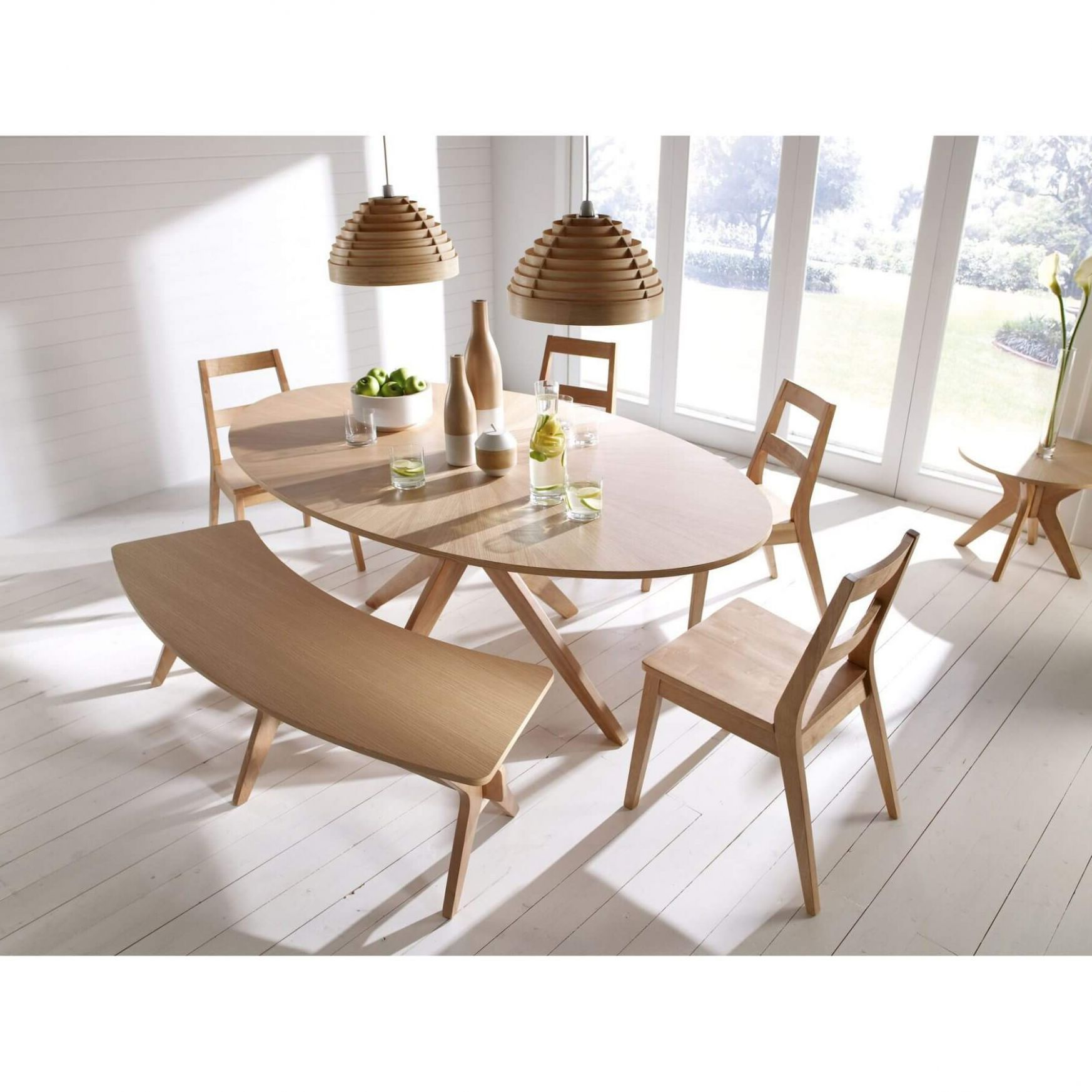 Circa Ii Oval Dining Table With Extension Mechanism Open 1 5m Wide