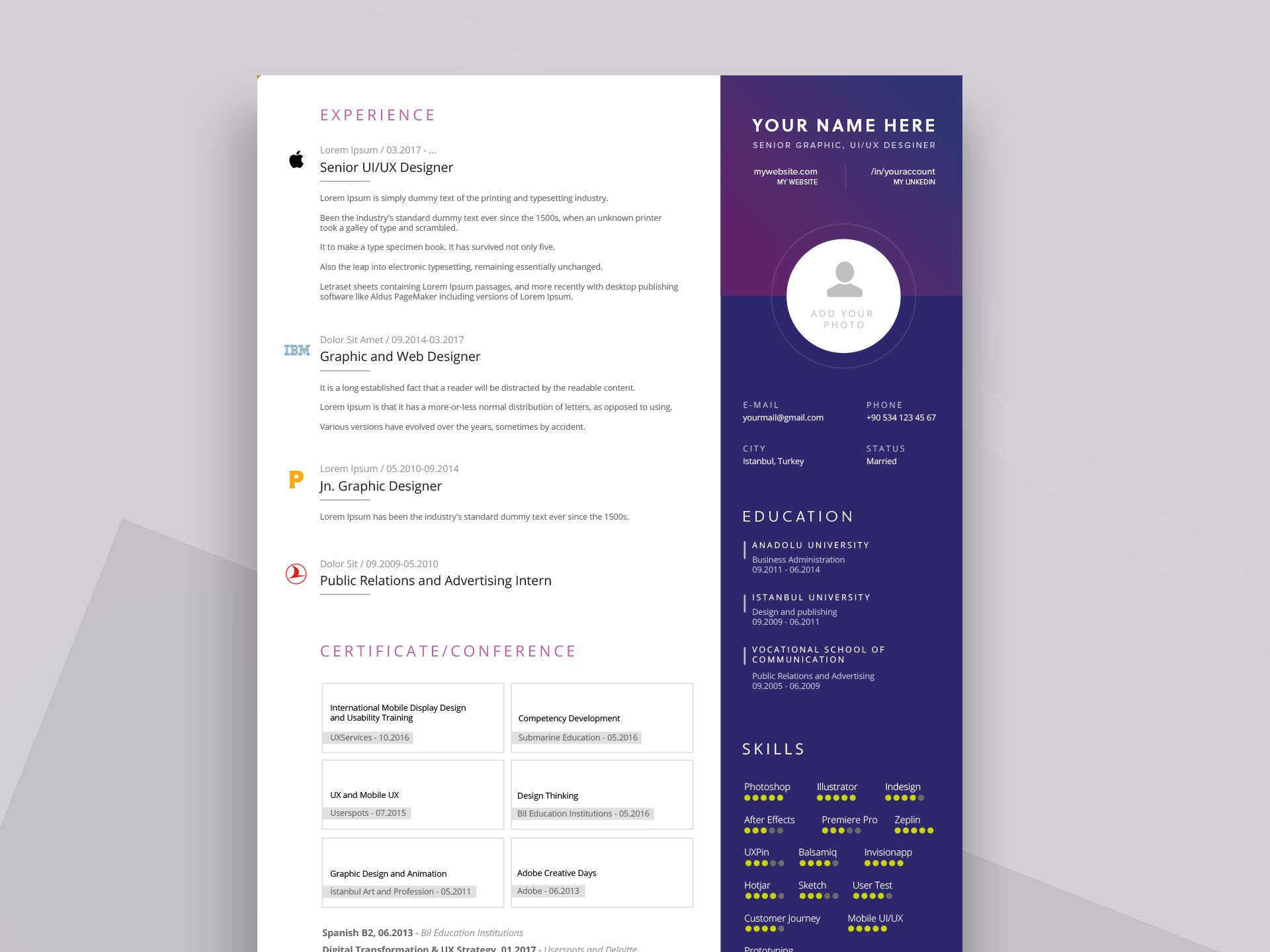 PPT Resume Template Free Download ResumeKraft, Image