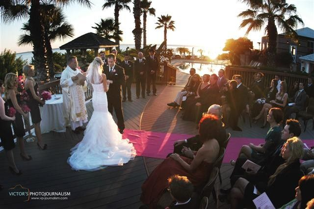 Grand Hyatt Tampa Outside Wedding Beach Pink