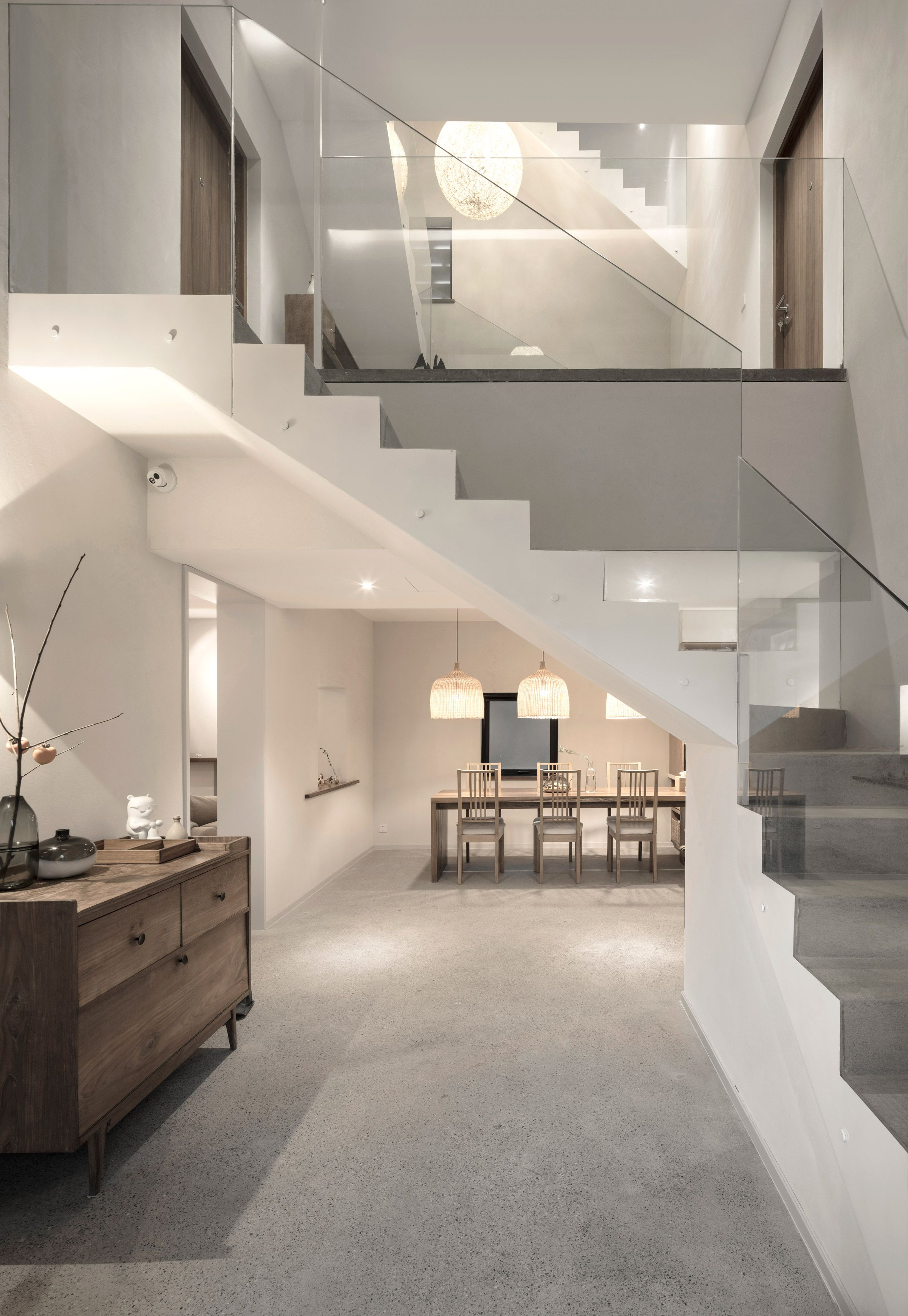 Looks Like Sand Blasted Mat Finish Modern Houses Interior