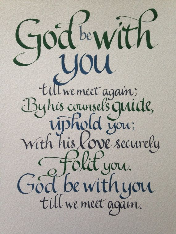 Goodbye Gift, Farewell, Custom Calligraphy, Christian Gift ...