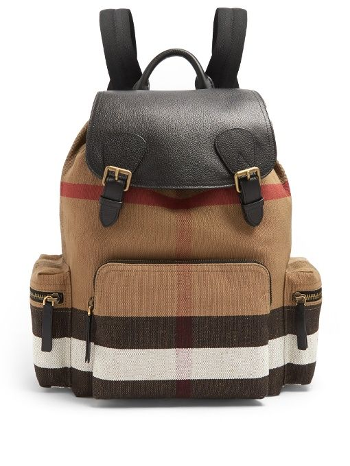 20574f9d1643 BURBERRY The Large Canvas Backpack.  burberry  bags  leather  canvas   backpacks