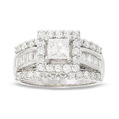 Frame Princess Cut 14k White Gold Enagement ring My Dream