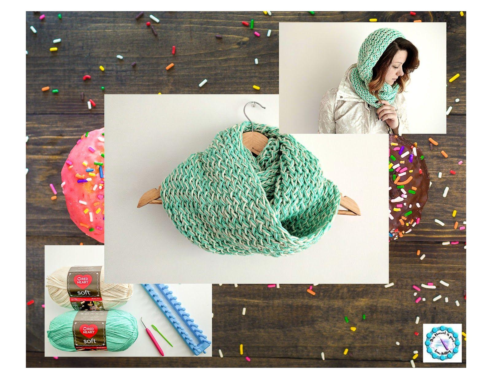 Loom Knit Infinity Scarf Pattern (Free)   Scarf patterns, Loom ...