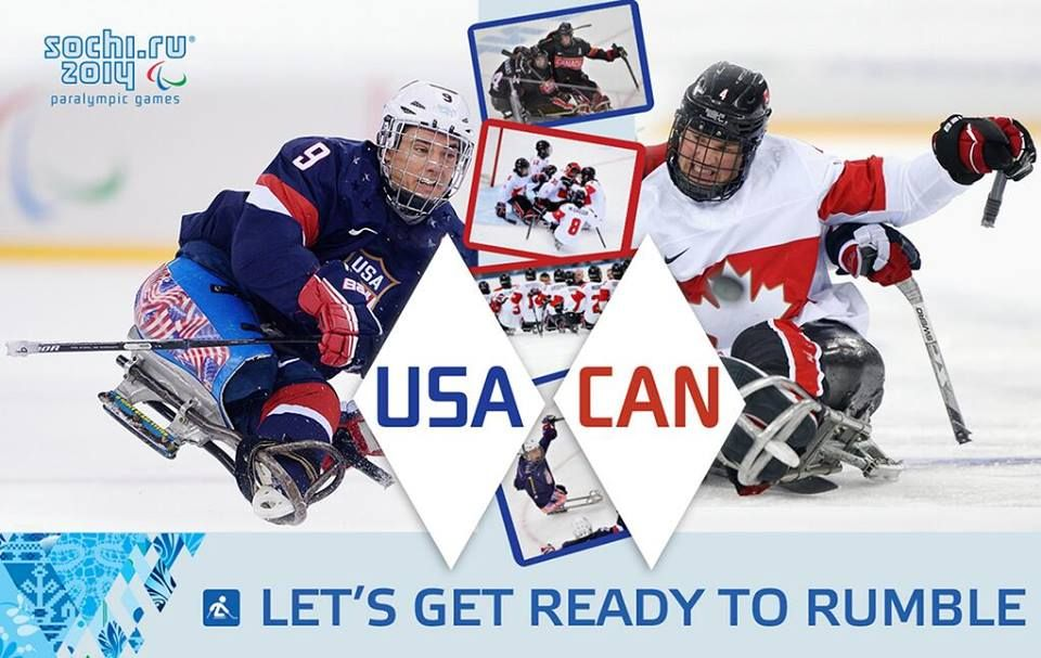 Watch Live Now Team Canada Takes On Team Usa In The Sledge Hockey
