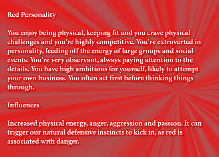 Red Personality Affects Color Meaning Personality Color Meanings Red Color Meaning