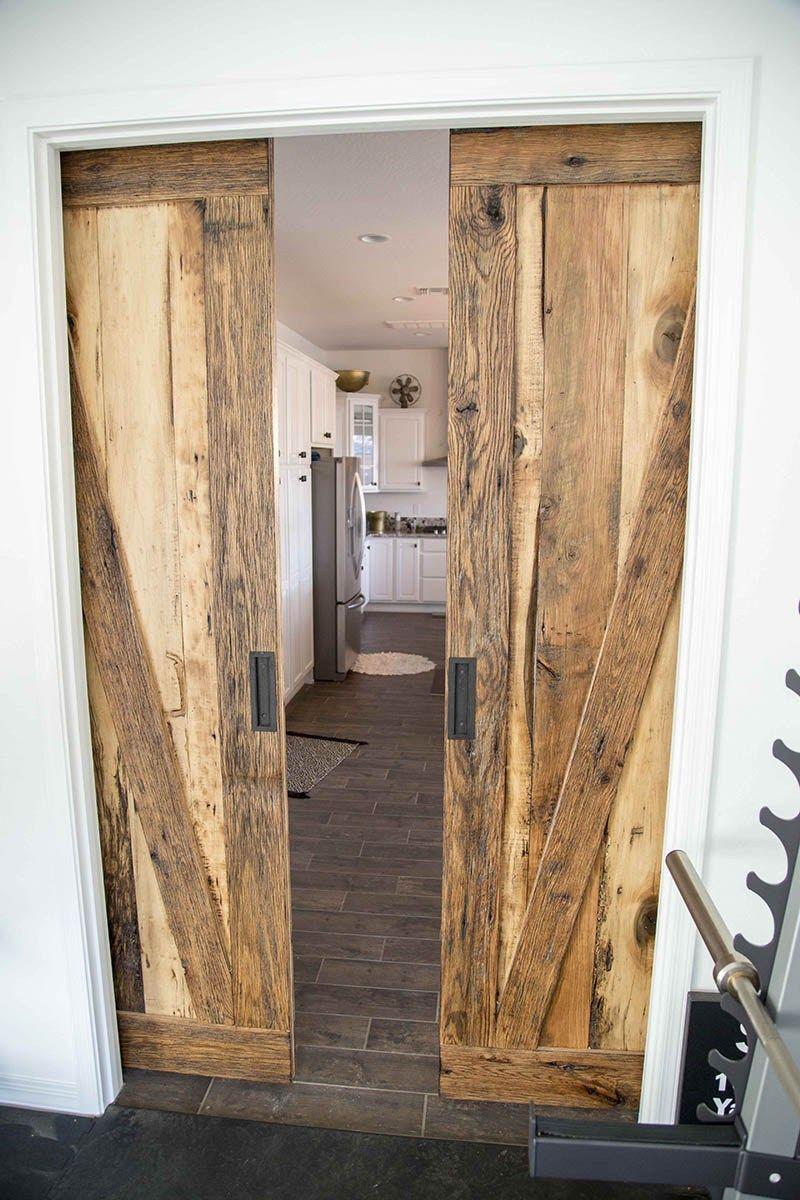 grey smooth brown tobacco barn sliding barn doors on Brown Barn Door id=49163