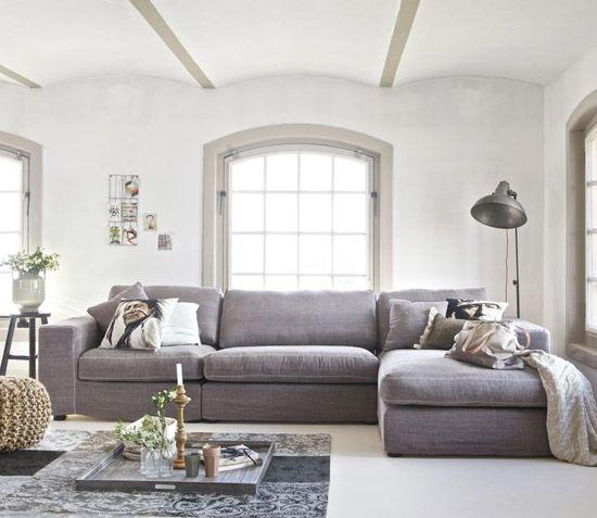 Hoekbank voor de woonkamer | Wooninspiratie | Indoor space ...