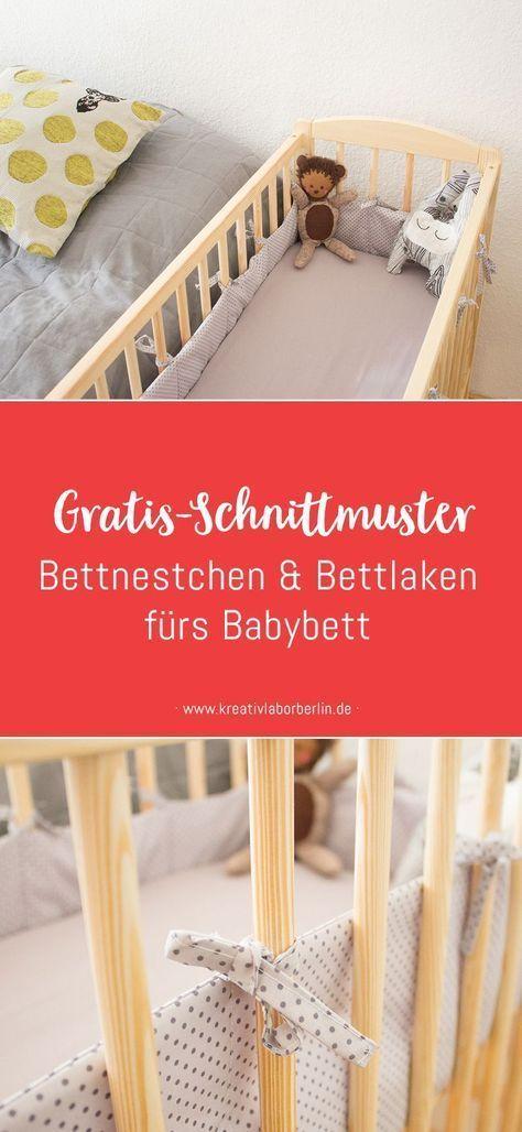 Kostenlose Nähanleitung: Bettnestchen & Bettlaken fürs Babybett – Kreativlabor Berlin