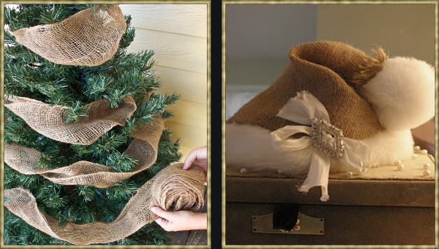 Burlap Christmas IDEAS | And don't forget how lovely it can be in your