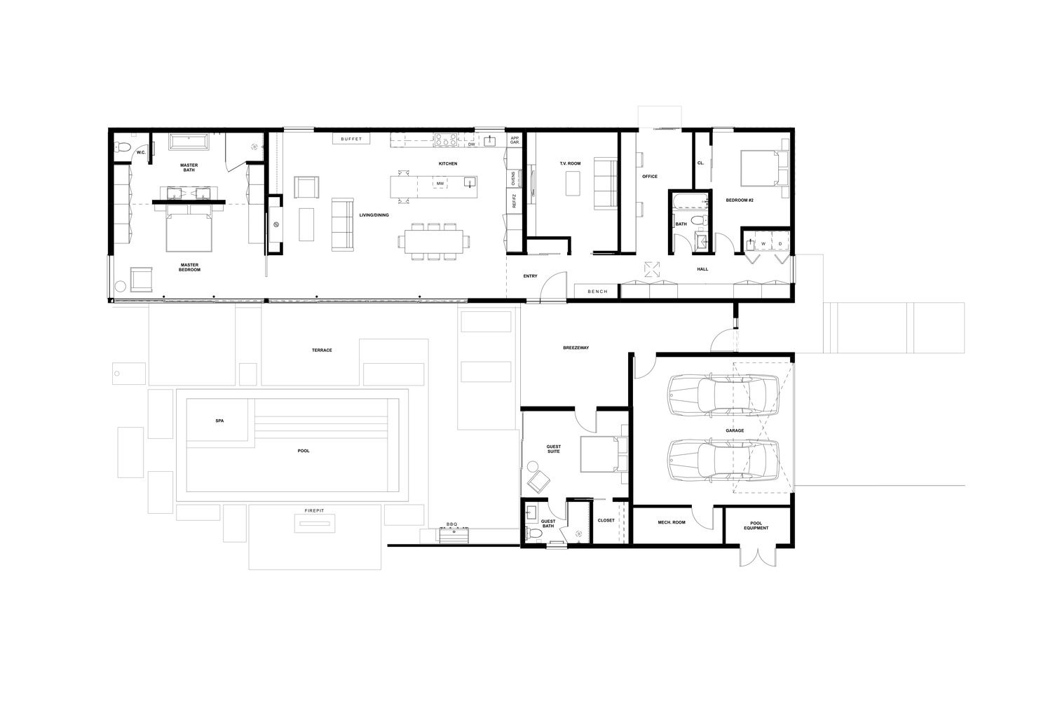 Gallery of glass wall house klopf architecture 19 craftsman floor plans house floor