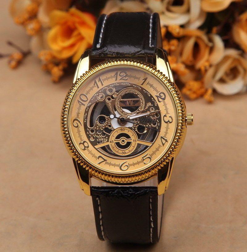 Fashion Men's Date Leather Stainless Steel Military Sport Quartz Wrist Watch 005