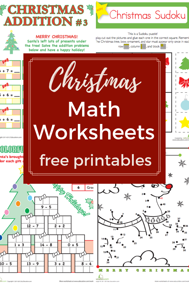 Browse More Than A Hundred Christmas Themed Math Worksheets To Do With Your Preschool Kindergart Christmas Math Christmas Math Worksheets Christmas Worksheets