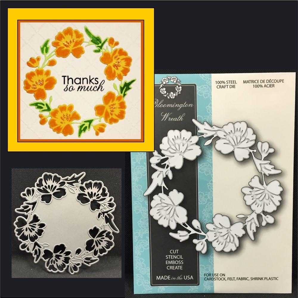 BLOOMINGTON WREATH metal die MEMORY BOX dies 99006 flowers,leaves,christmas #MemoryBox