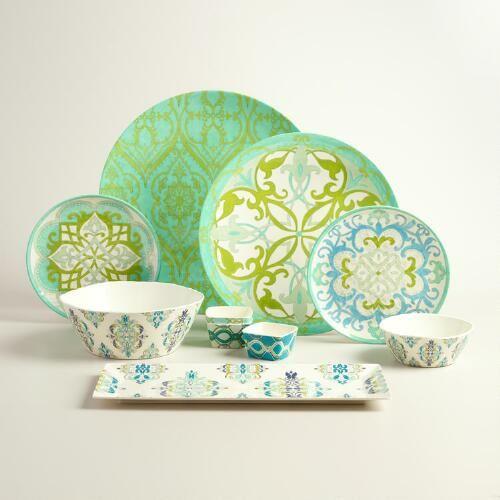 Coastal Melamine Dinnerware Collection Porcelana Pratos