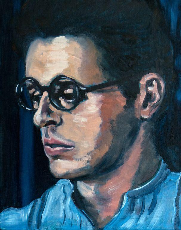 "Saatchi Online Artist: Corinne Korda; Oil 2013 Painting ""Barton worries"""