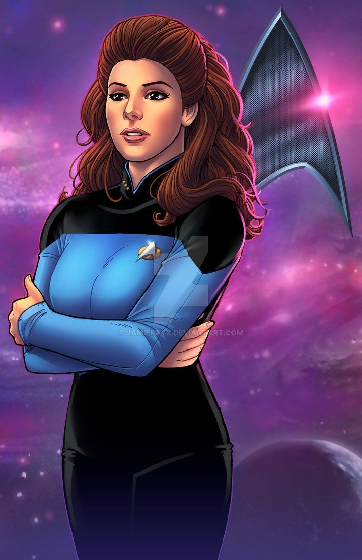 Deanna Troi Star Trek The Next Generation By Jamiefayx Deviantart Com On Deviantart Deanna Troi Star Trek Art Star Trek Books
