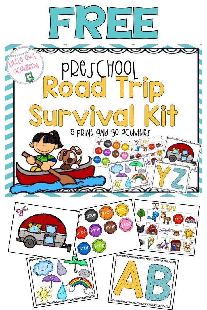 Road Trip Survival Kit Road trip, Free preschool