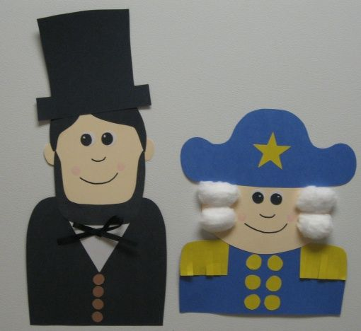 Cute Ideas For Abraham Lincoln And George Washington Templates For