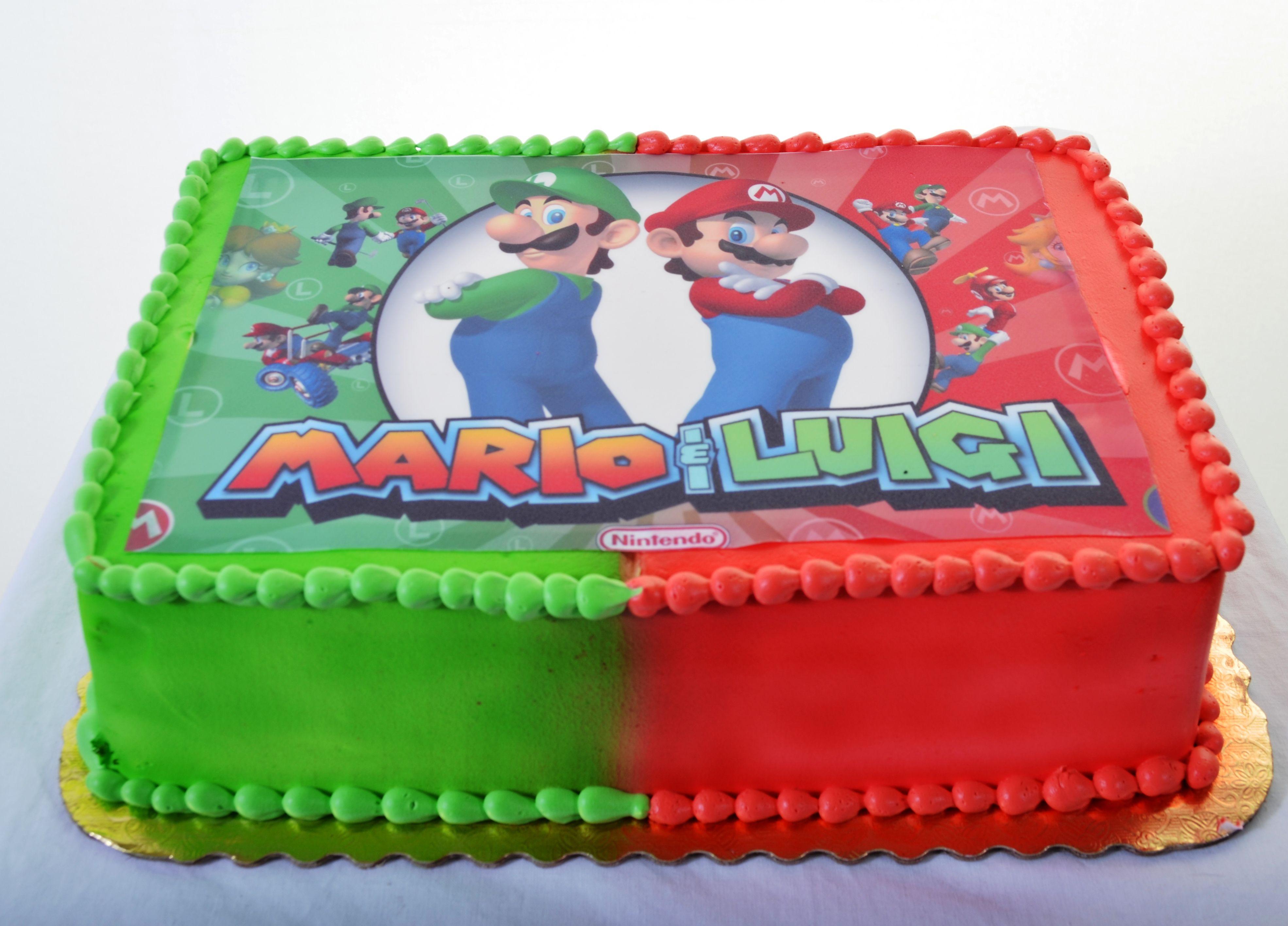 Bad Luigi Cake