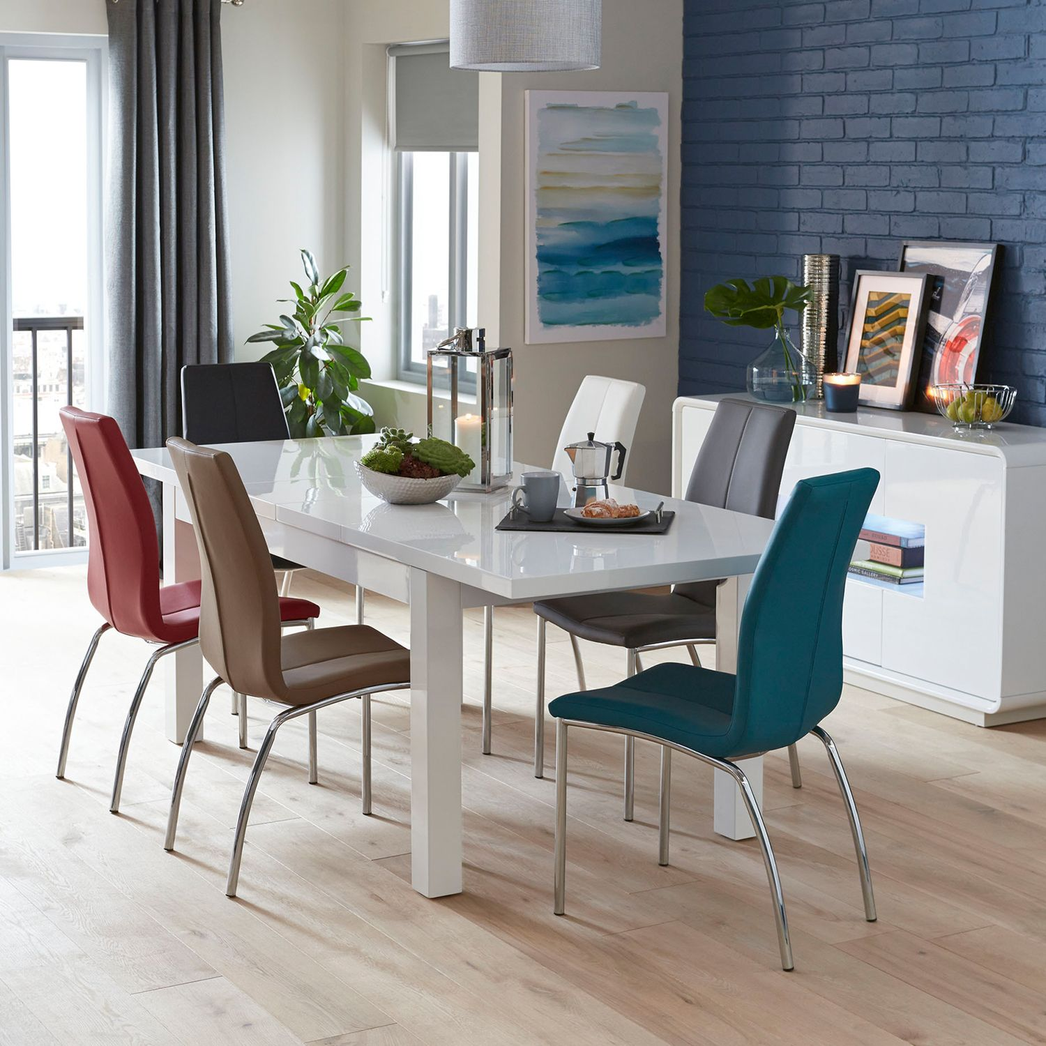 Adela Extending Dining Table White Dining Chairs Home Decor Extendable Dining Table