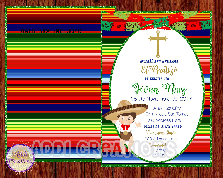 Charro Invitations, Charro Baptism Invitations, Charro Bautizo ...