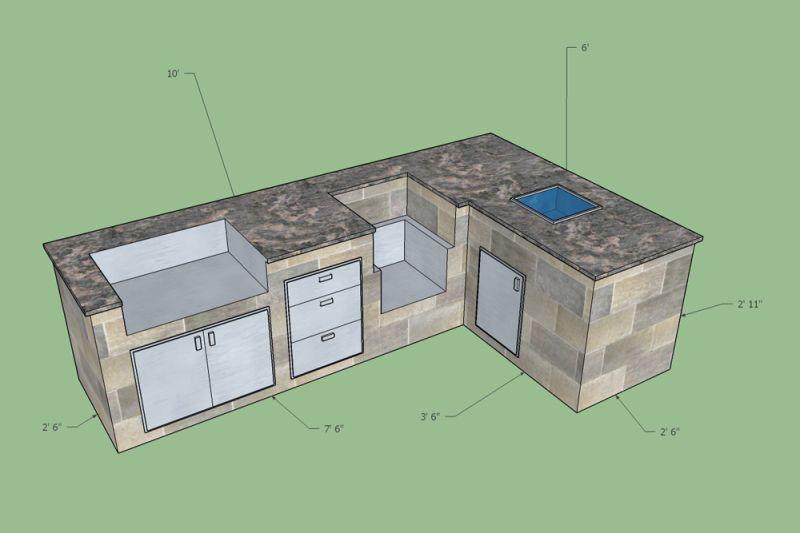 Outdoor Kitchen Planning Design Service Free 3d Sketch Bbqguys Outdoor Kitchen Kitchen Design Plans Outdoor Kitchen Plans