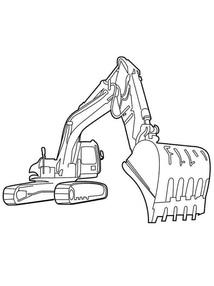 Excavator Coloring Pages Image Excavators Are Heavy Equipment Consisting Of Arms Booms And Buckets And Are Driv Excavator Coloring Pages Truck Coloring Pages