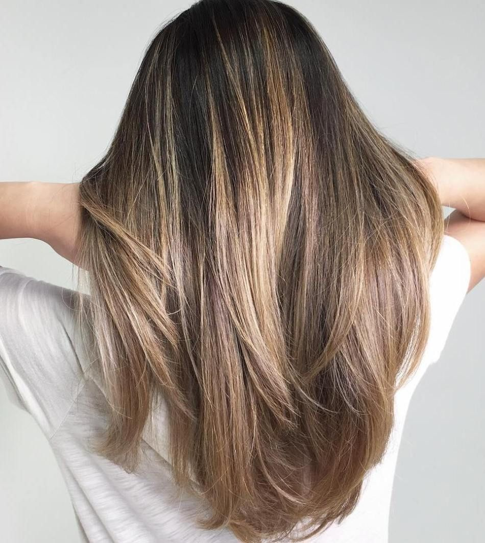 20 Natural,Looking Brunette Balayage Styles in 2019