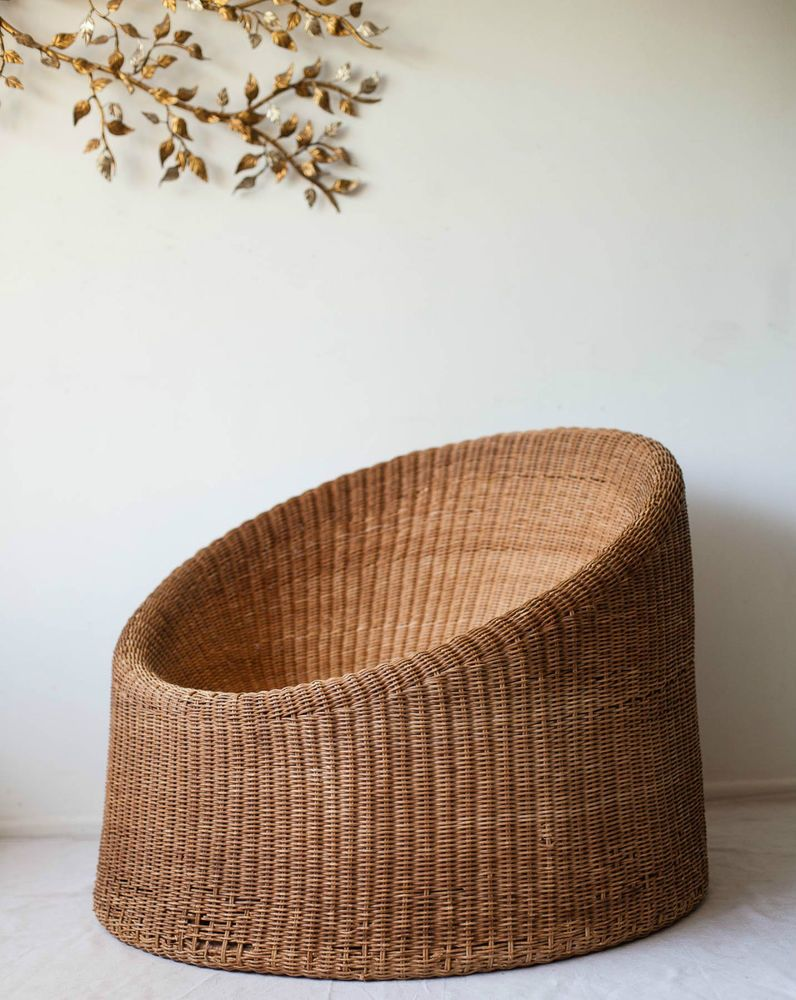 Eero Aarnio Rattan Wicker Elephant Boot Mushroom Chair Mid ...