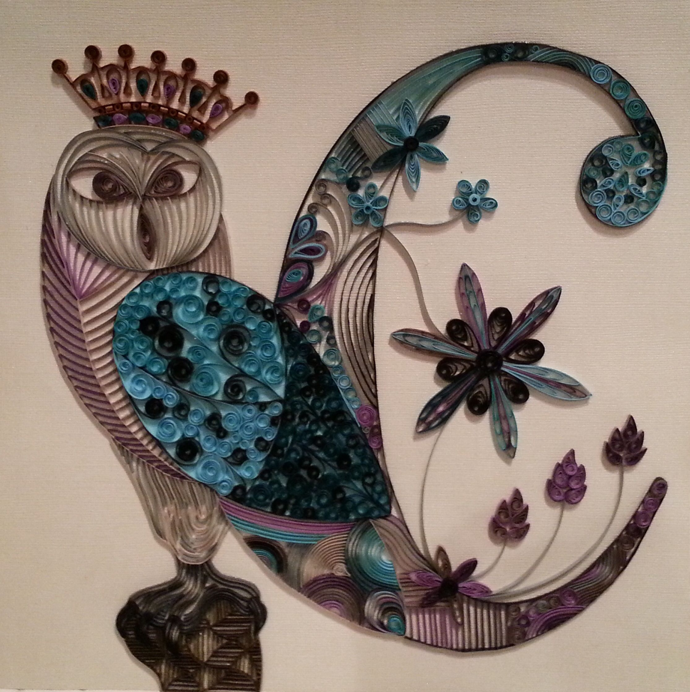 Quilling owl queen for chloe craft crafts u more crafts