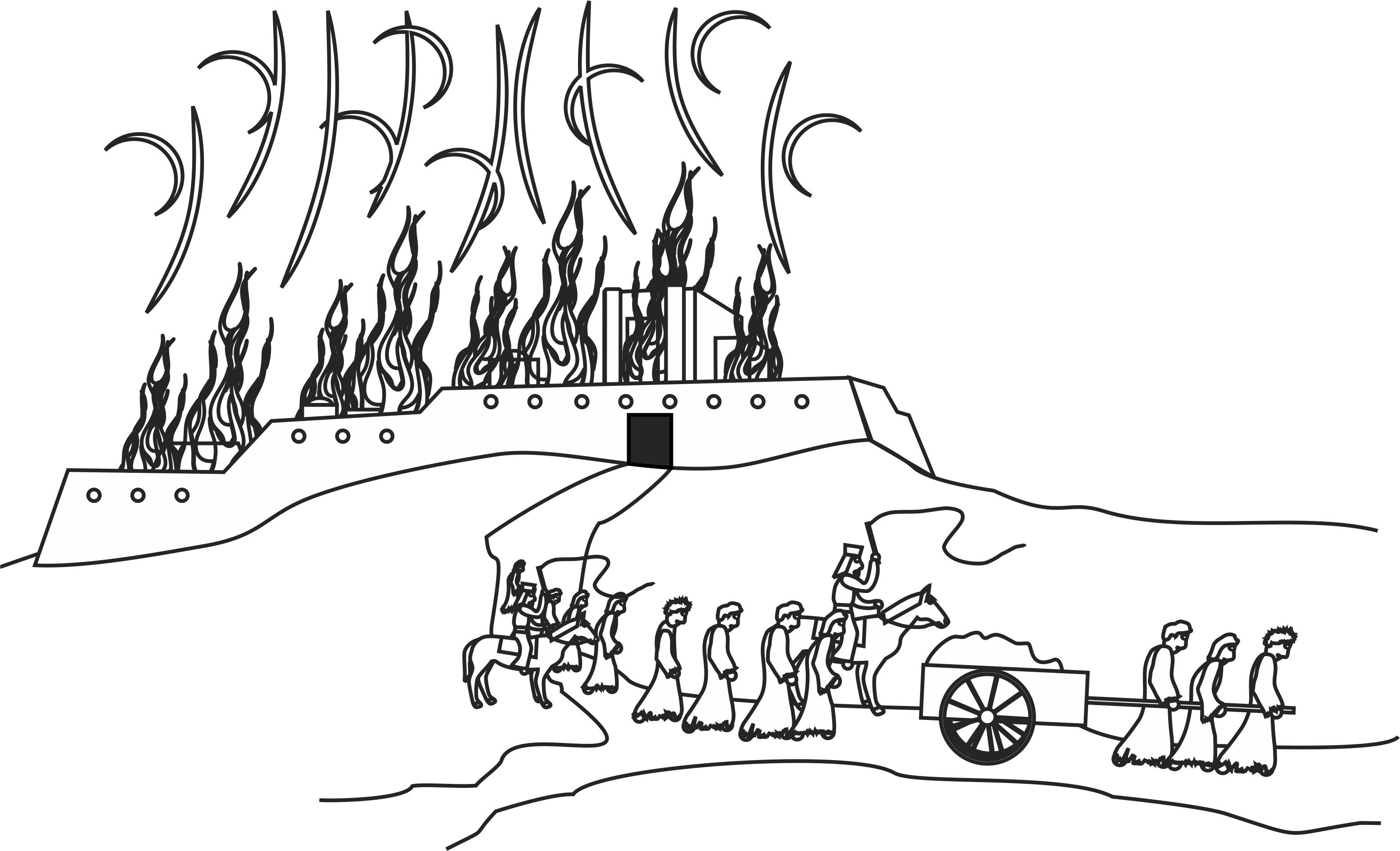 Jerusalem Siege Coloring Page