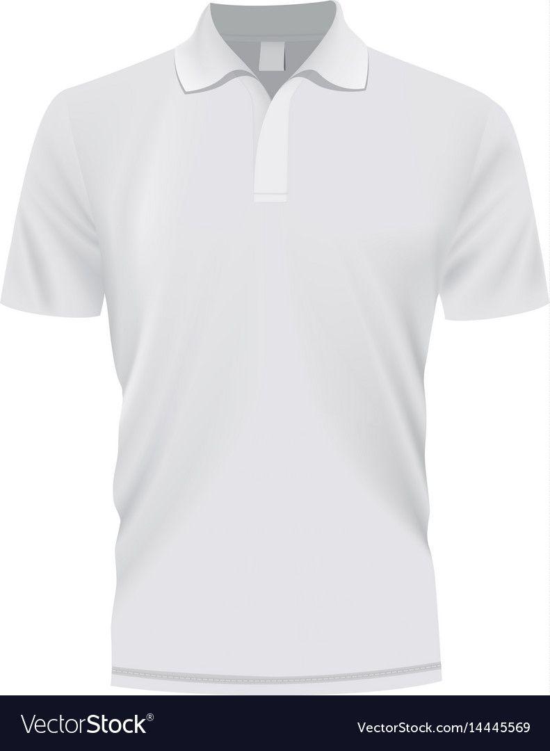 Download White Polo Shirt Mockup Realistic Style Vector Image On Vectorstock White Polo Shirt Shirt Mockup Polo Shirt