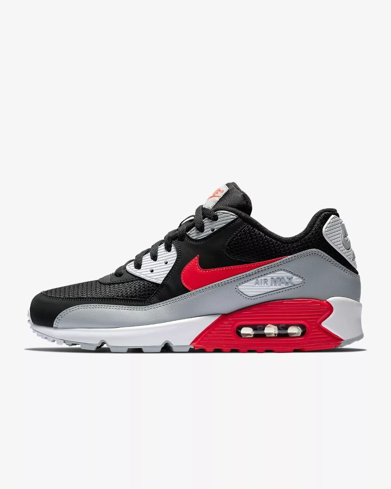 huge discount 1c1f3 4e465 Nike Air Max 90 Essential Men s Shoe - Wolf Grey Black White Bright Crimson   fashion  clothing  shoes  accessories  mensshoes  athleticshoes  ad (ebay  link)
