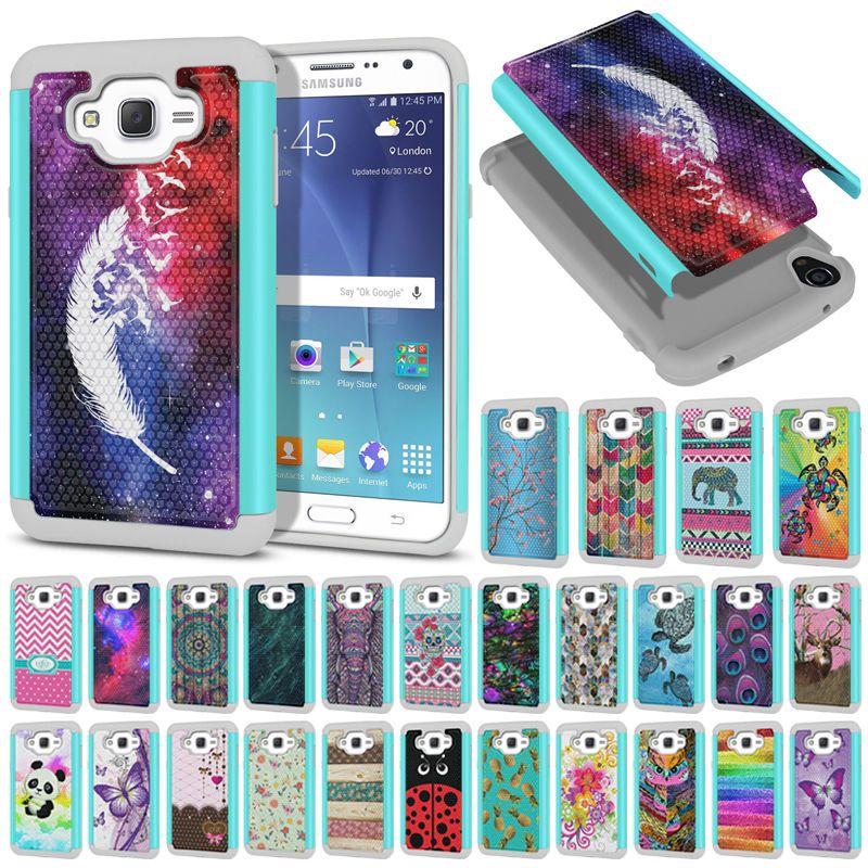 For Samsung Galaxy J7 J700 Design Hybrid Protective Shock