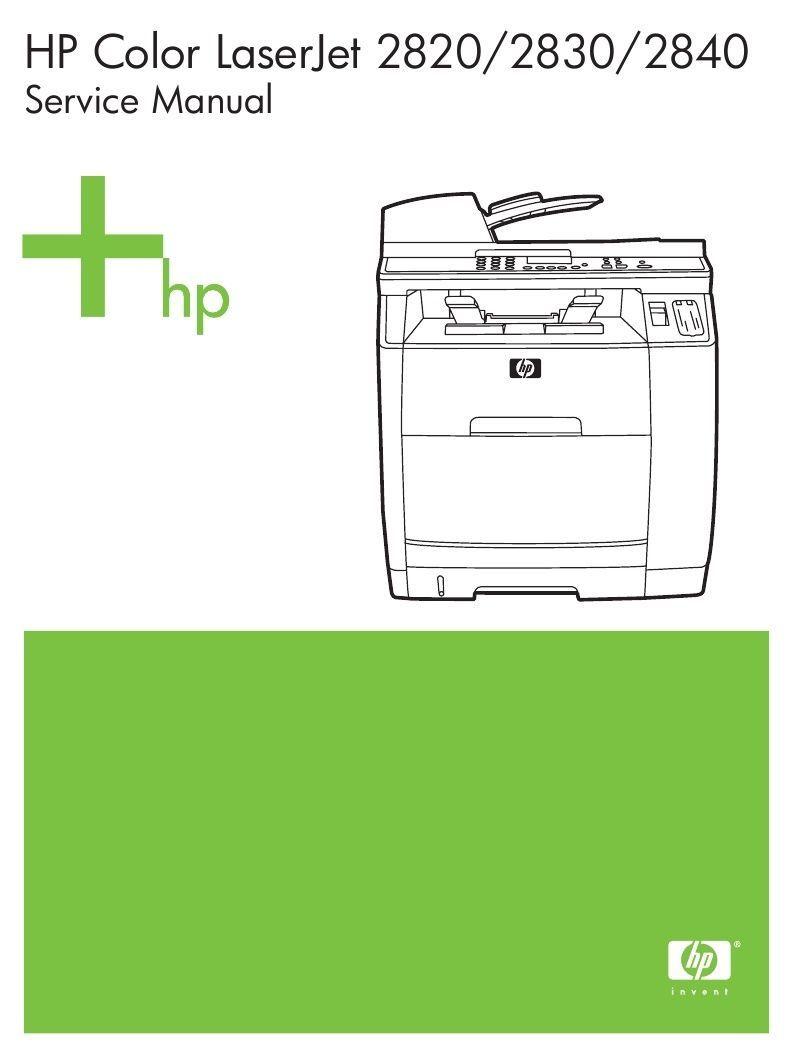$1.8 - Hp Color Laserjet 2820 / 2830 / 2840 Printer Service Manual(Parts  &amp