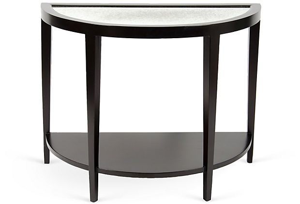 Mirrored Demilune Table on OneKingsLane.com