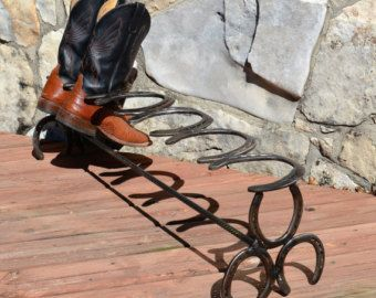 Horseshoe Boot Rack holds 2 pair