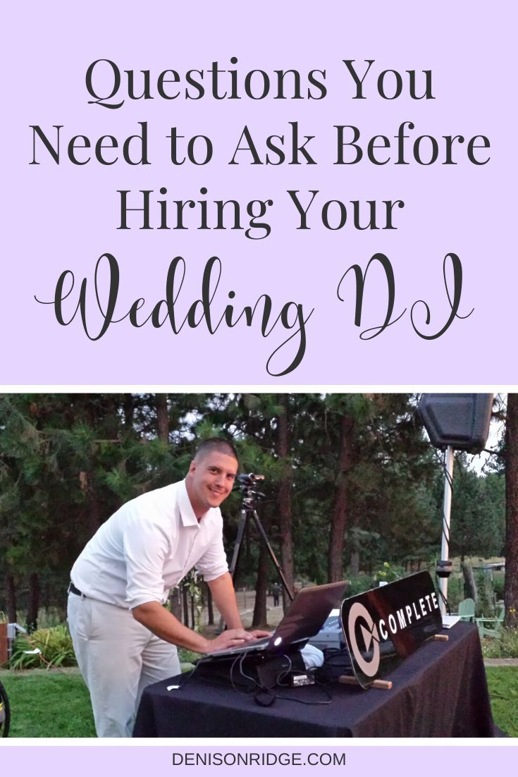 Becoming an event planner comes with a lot of decision making!  Ask these questions before you decide to hire your wedding DJ.  #weddingplanning #weddingdj #eventplanning