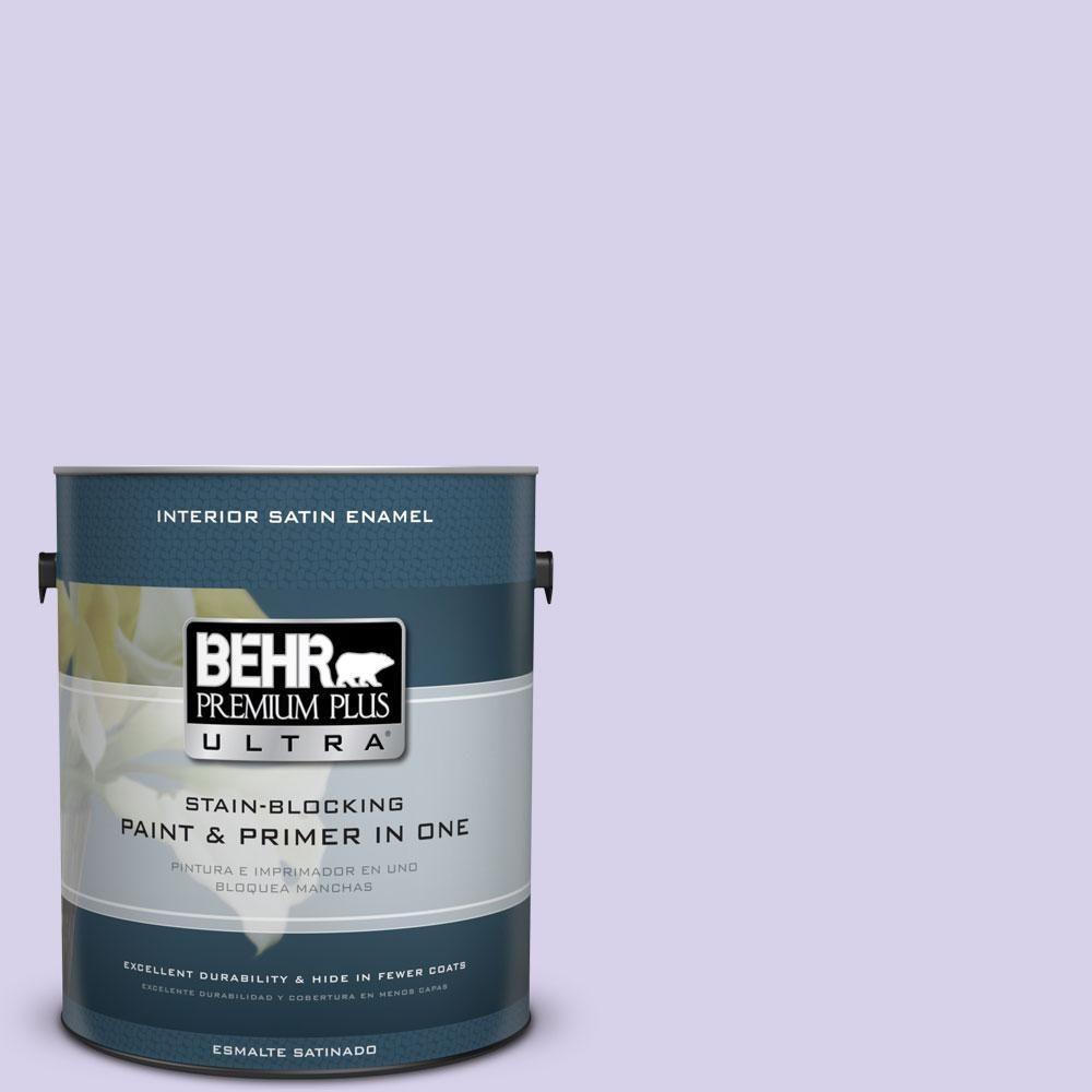 BEHR Premium Plus Ultra 1-gal. #P560-2 Air Castle Satin Enamel Interior Paint