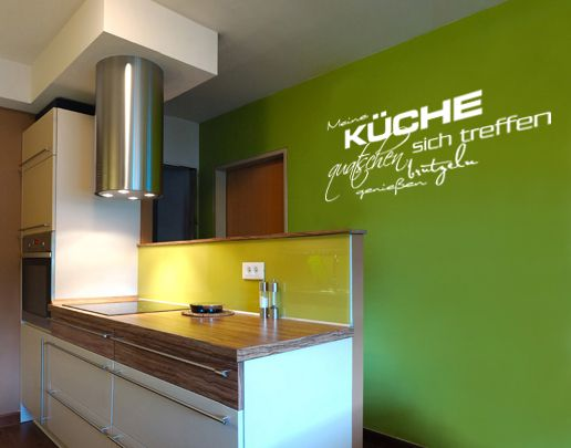 Wandtattoo Meine Küche Sprüche wal093 Möbeltattoo Products and Kueche