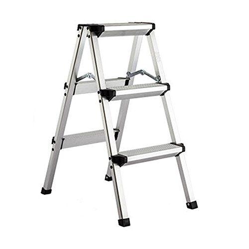 Fine Lxla Thicken 3 4 Step Ladder Stool Aluminum Alloy Scissors Machost Co Dining Chair Design Ideas Machostcouk