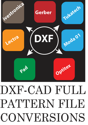 DXF-AAMA Pattern File Converting Services Los Angeles | [DXF