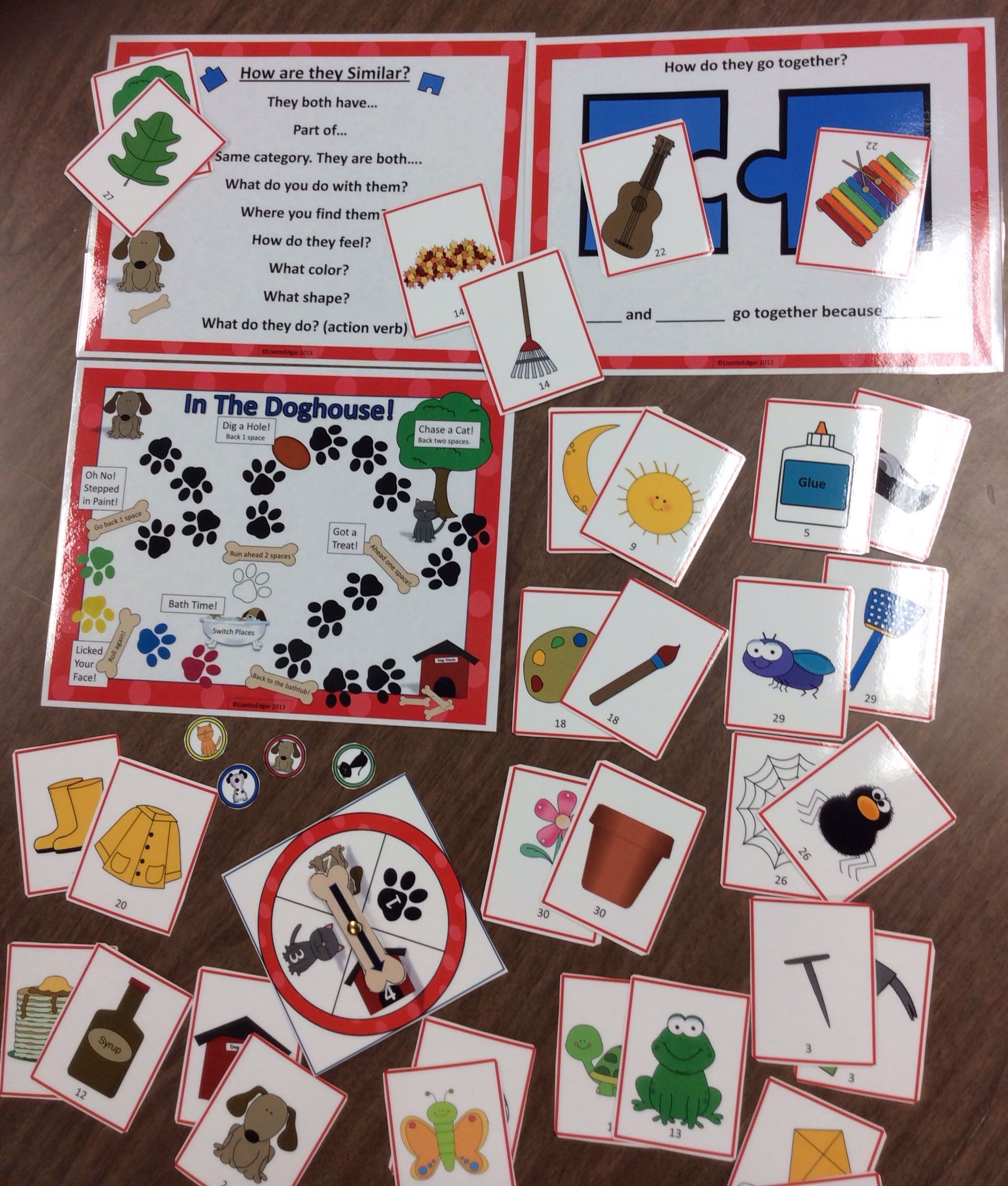 Associations Amp Describing In The Doghouse Speech Therapy