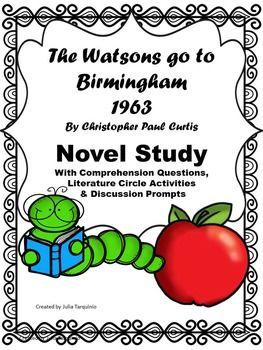 The Watsons Go To Birmingham Novel Study 6th Grade Reading