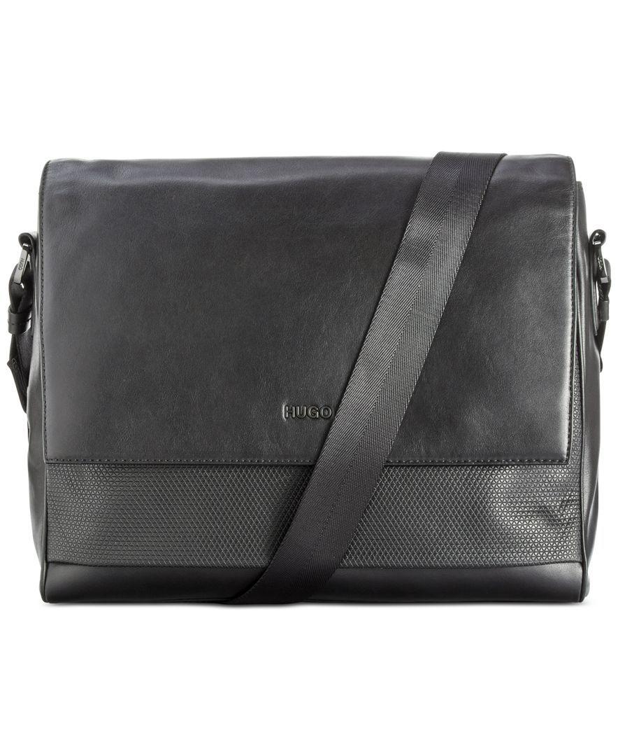 Leather shoulder bag with embossed logo HUGO BOSS LgvqJP8