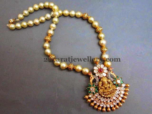 South Sea Pearls Temple Necklace South sea pearls Hyderabad and