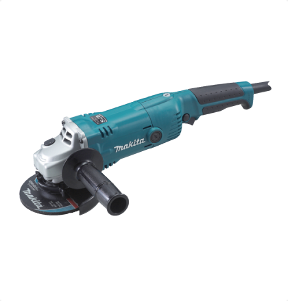 Makita GA5020C Angle Grinder High power and devised switch action with electric control. Anti-restart function prevents accidental startup for safety even if the machine is plugged to power source with the lock-on switch on. High dust-proof construction. Super Joint System absorbs shock caused by accidental wheel lock and protects gears. Rubberized soft grip for more comfort and control For More Details: http://www.mrthomas.in/makita-ga5020c-angle-grinder_58